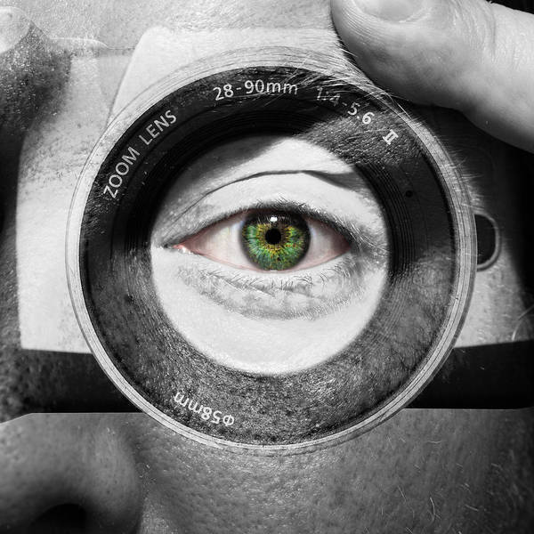 Abstract Poster featuring the photograph Camera Face by Semmick Photo
