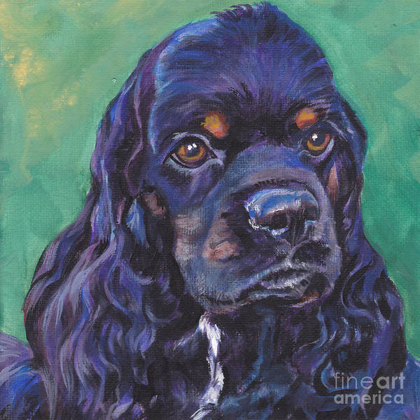 Cocker Spaniel Poster featuring the painting Cocker Spaniel Head Study by Lee Ann Shepard