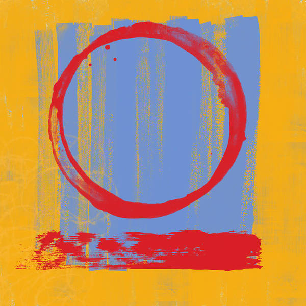 Red Poster featuring the painting Enso by Julie Niemela