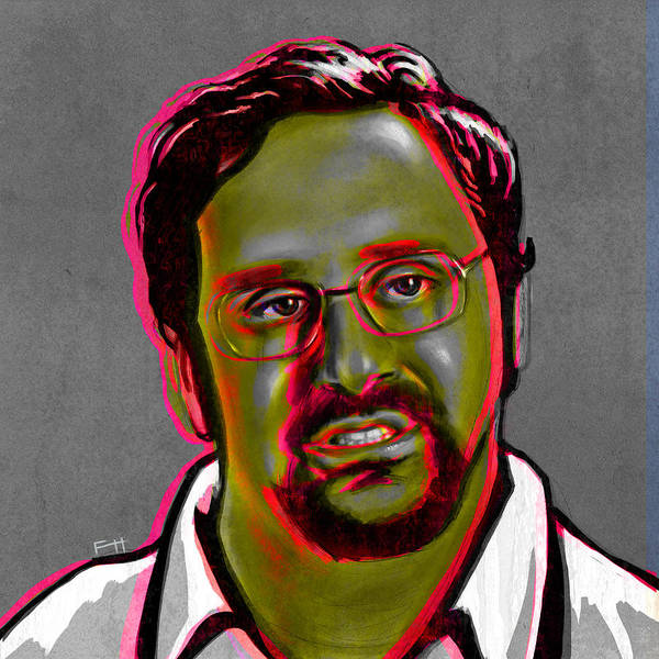 Tim And Eric Poster featuring the painting Eric Wareheim by Fay Helfer