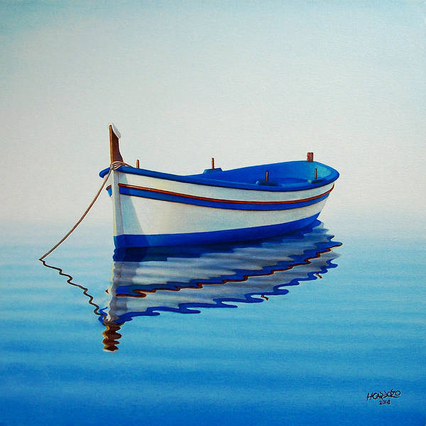 Fishing Poster featuring the painting Fishing Boat II by Horacio Cardozo