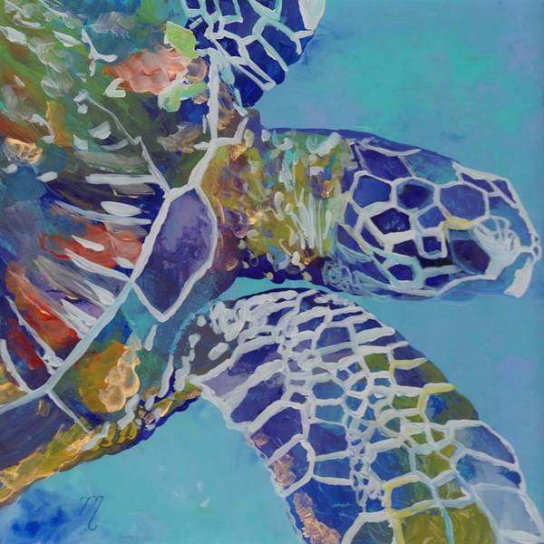 Honu Poster featuring the painting Honu by Marionette Taboniar