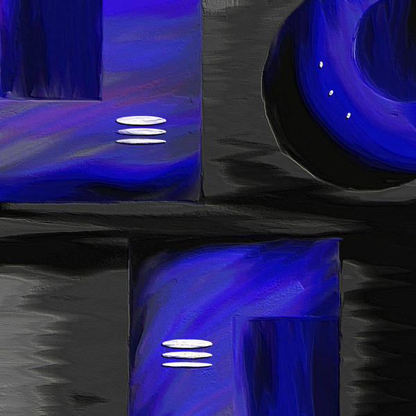 Abstract Art Poster featuring the painting Midnight by Ely Arsha