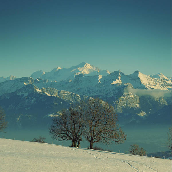 Square Poster featuring the photograph Mont Blanc by Lionel Albino