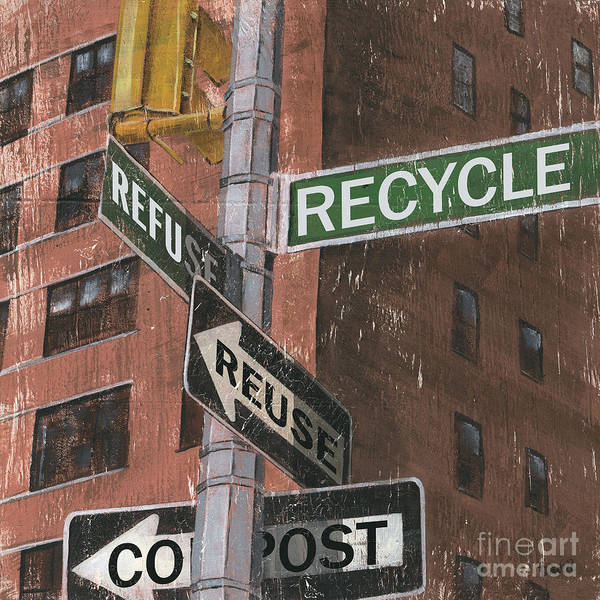 Vintage Poster featuring the painting Nyc Broadway 1 by Debbie DeWitt