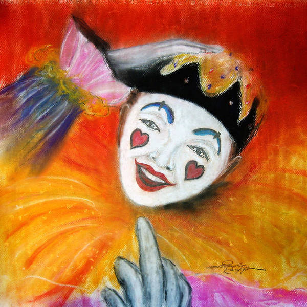 Clowns Poster featuring the painting Say It With A Smile by Leonardo Ruggieri