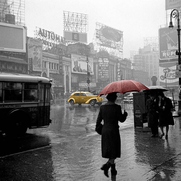 Times Square Poster featuring the photograph Yellow Cabs New York 2 by Andrew Fare