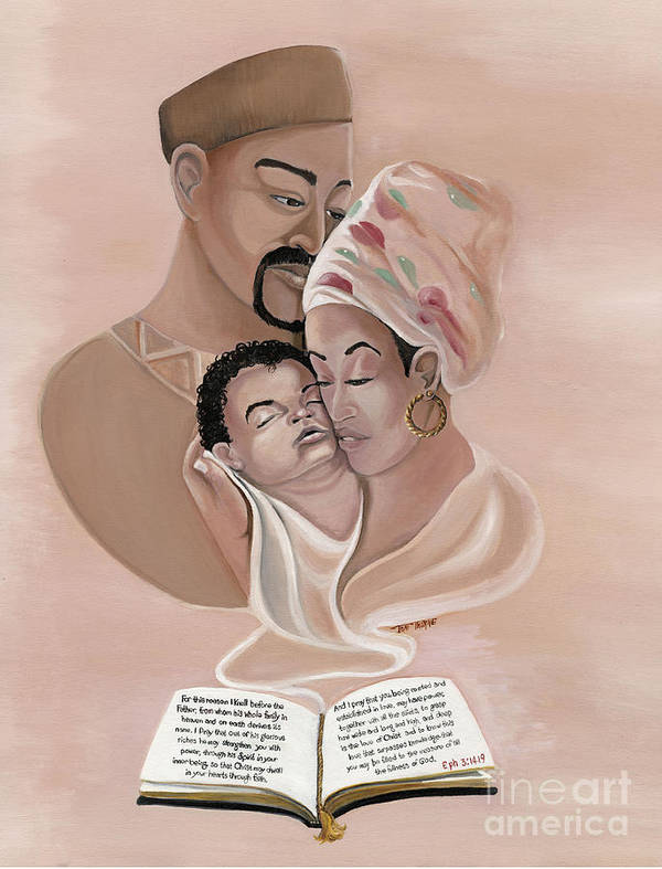 Spiritual Painting Poster featuring the painting The Family by Toni Thorne