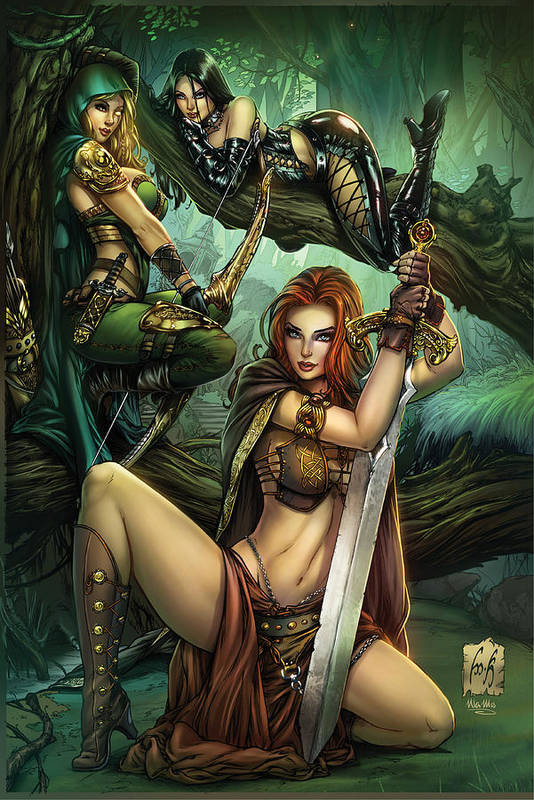 Grimm Fairy Tales Poster featuring the drawing Grimm Fairy Tales Presents Black Diamond Exclusives by Zenescope Entertainment