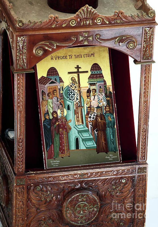 Orthodox Icon Poster featuring the photograph Orthodox Icon by John Rizzuto