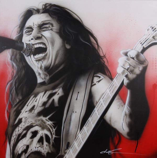 Slayer Poster featuring the painting 'arhhhhhhhh' by Christian Chapman Art