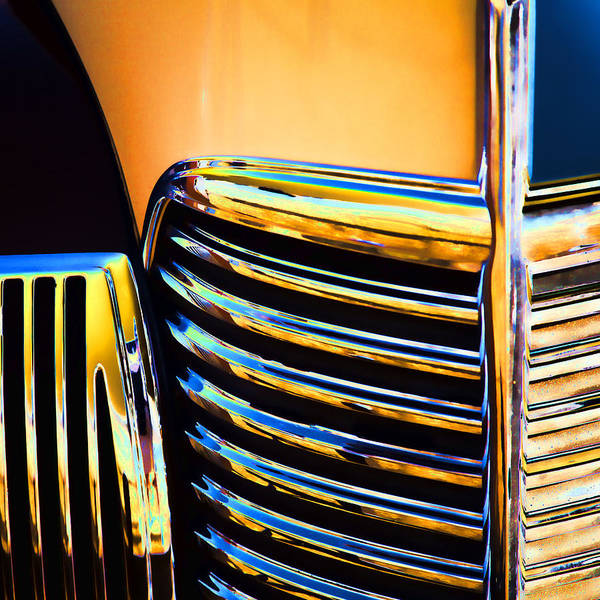 1939 Poster featuring the photograph 1939 Studebaker Champion Grille by Carol Leigh