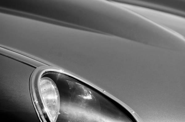 1963 Jaguar Xke Roadster Headlight Poster featuring the photograph 1963 Jaguar Xke Roadster Headlight by Jill Reger