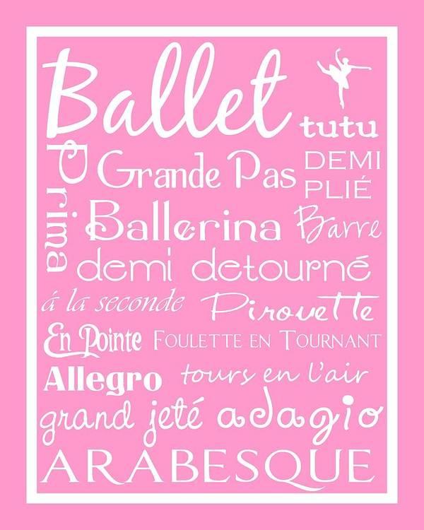 Children Poster featuring the digital art Ballet Subway Art by Jaime Friedman