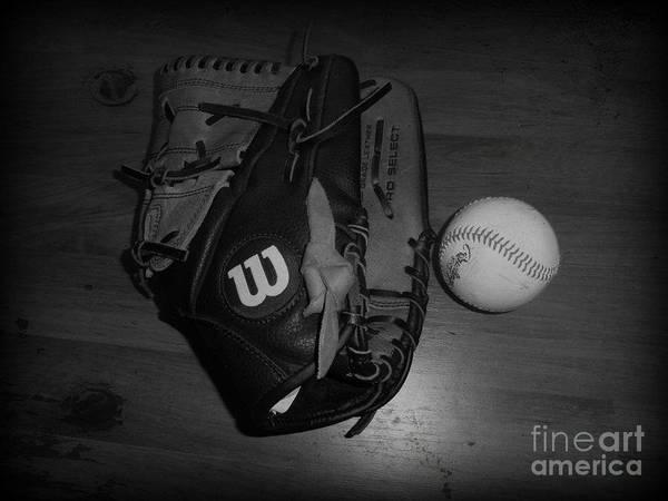 Baseball Poster featuring the digital art Baseball by Meagan Hoelzer