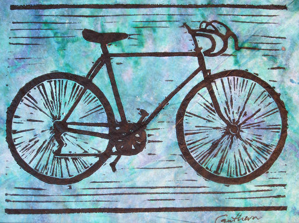 Bike Poster featuring the drawing Bike 8 by William Cauthern