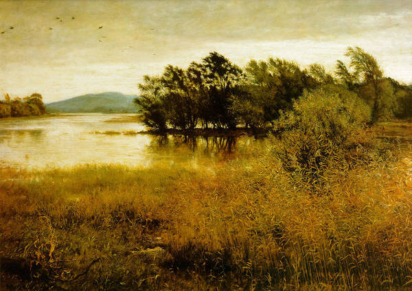 Chill October Poster featuring the digital art Chill October by John Everett Millais