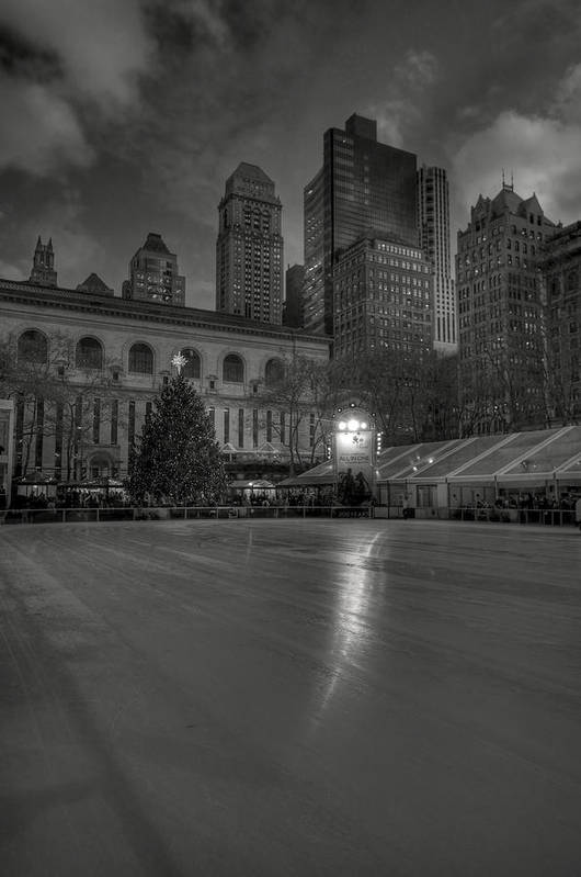Building Poster featuring the photograph Christmas In Bryant Park by Mike Horvath