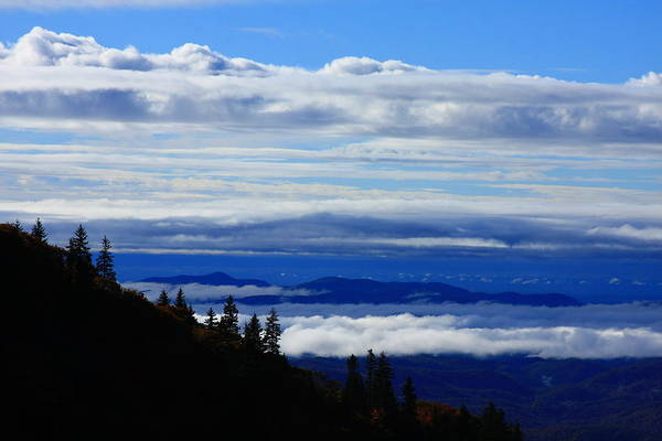 Sea Of Clouds Poster featuring the photograph Courthouse Valley Sea Of Clouds by Michael Weeks