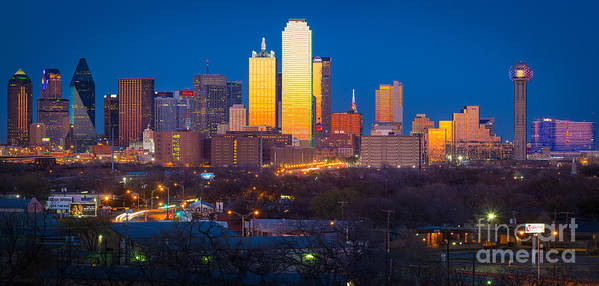 Dallas Poster featuring the photograph Dallas Skyline by Inge Johnsson