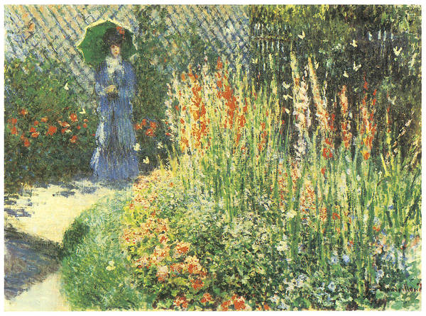 Gladioli Poster featuring the painting Gladioli by Claude Monet