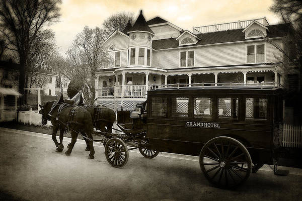 Hovind Poster featuring the photograph Grand Hotel Taxi by Scott Hovind