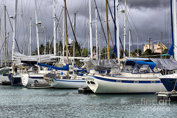 Boats Poster featuring the photograph In The Harbor by Cheryl Young