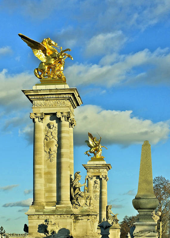 Paris Poster featuring the photograph Pont Alexandre IIi by Mountain Dreams
