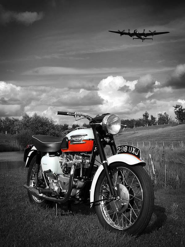Triumph Motorcycle Poster featuring the photograph Triumph Bonneville T120 by Mark Rogan