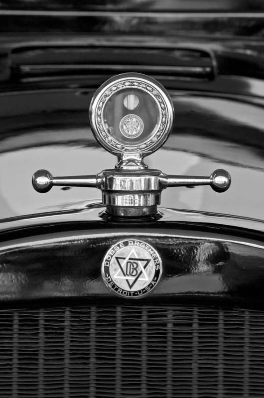 1928 Dodge Brothers Hood Ornament - Moto Meter Poster featuring the photograph 1928 Dodge Brothers Hood Ornament - Moto Meter by Jill Reger