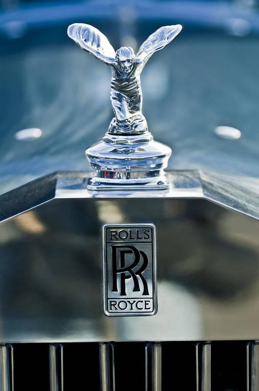 1952 Rolls-royce Poster featuring the photograph 1952 Rolls-royce Hood Ornament by Jill Reger