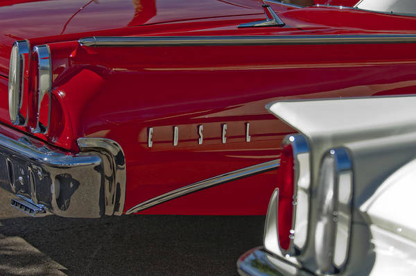 1960 Edsel Poster featuring the photograph 1960 Edsel Taillight by Jill Reger