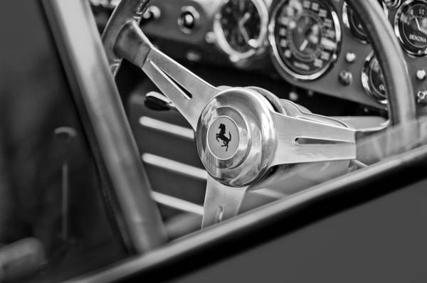 Ferrari Steering Wheel Poster featuring the photograph Ferrari Steering Wheel by Jill Reger