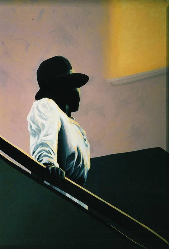 Portrait Poster featuring the painting Into The Light by Carrie Auwaerter