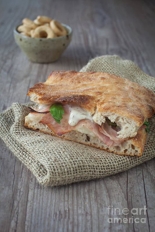 Appetizer Poster featuring the photograph Italian Sandwich by Sabino Parente