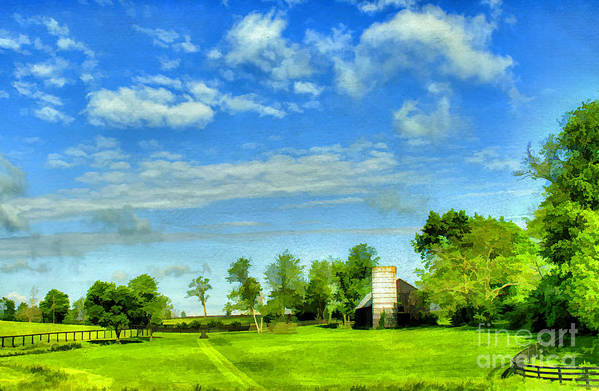 Farm Poster featuring the photograph Kentucky Countryside by Darren Fisher