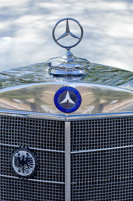 Mercedes-benz Poster featuring the photograph Mercedes-benz Hood Ornament by Jill Reger