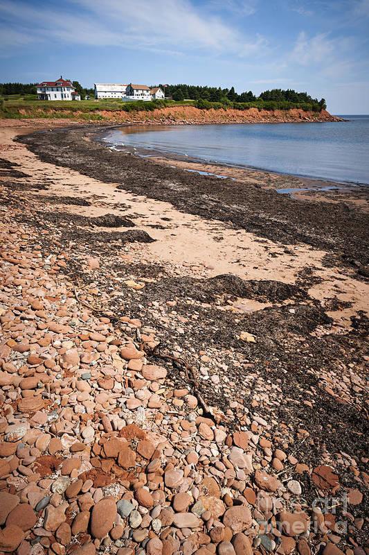 Prince Edward Island Poster featuring the photograph Prince Edward Island Coastline by Elena Elisseeva
