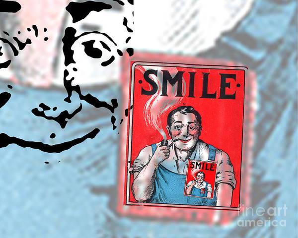 Edward Fielding Poster featuring the digital art Smile by Edward Fielding
