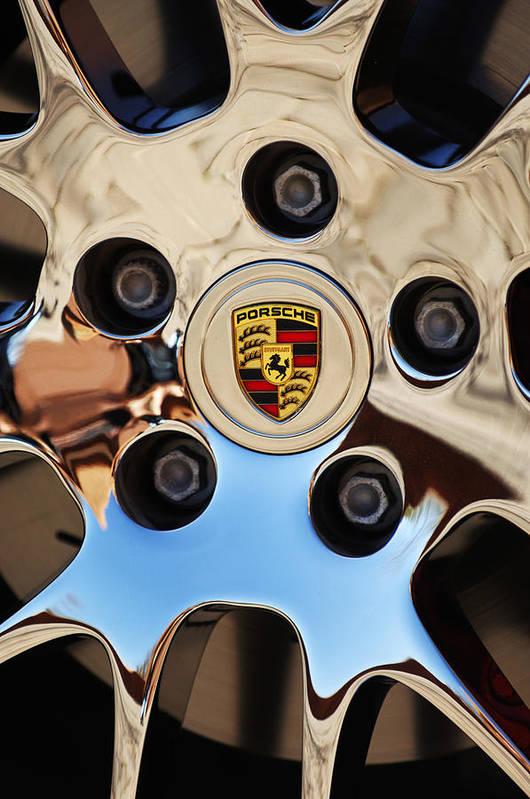 Car Poster featuring the photograph 2010 Porsche Panamera Turbo Wheel by Jill Reger