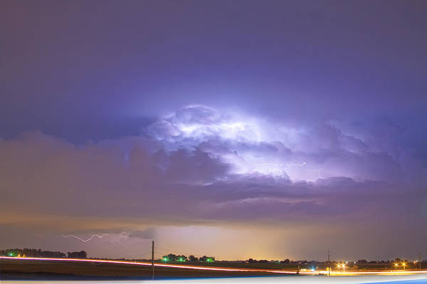 Lightning Poster featuring the photograph 25 To 34 Intra-cloud Lightning Thunderstorm by James BO Insogna