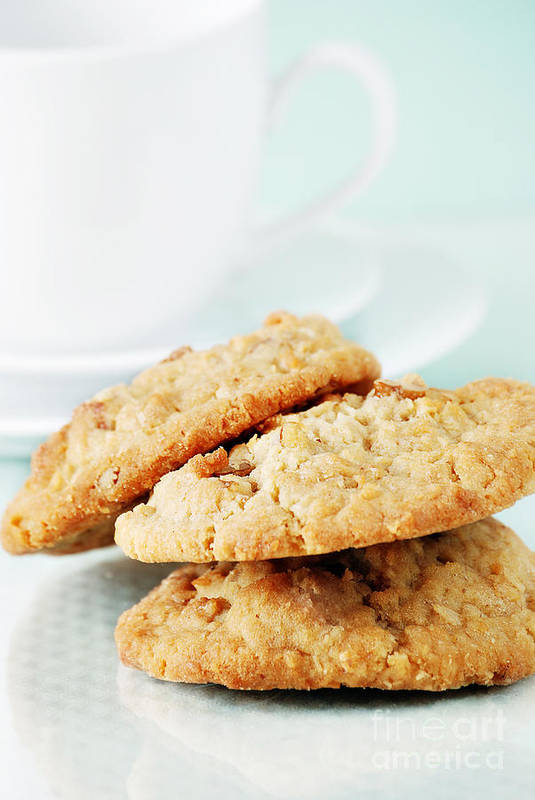 Oatmeal Poster featuring the photograph Oatmeal Cookies by HD Connelly