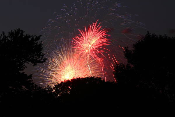 Washington Poster featuring the photograph 4th Of July Fireworks - 01131 by DC Photographer