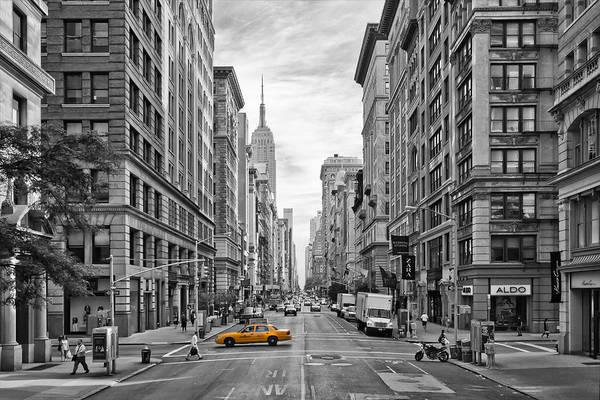 5th Avenue Yellow Cab - Nyc Poster by Melanie Viola