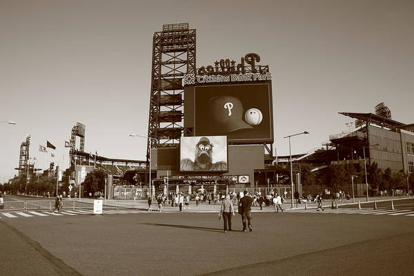 America Poster featuring the photograph Citizens Bank Park - Philadelphia Phillies by Frank Romeo