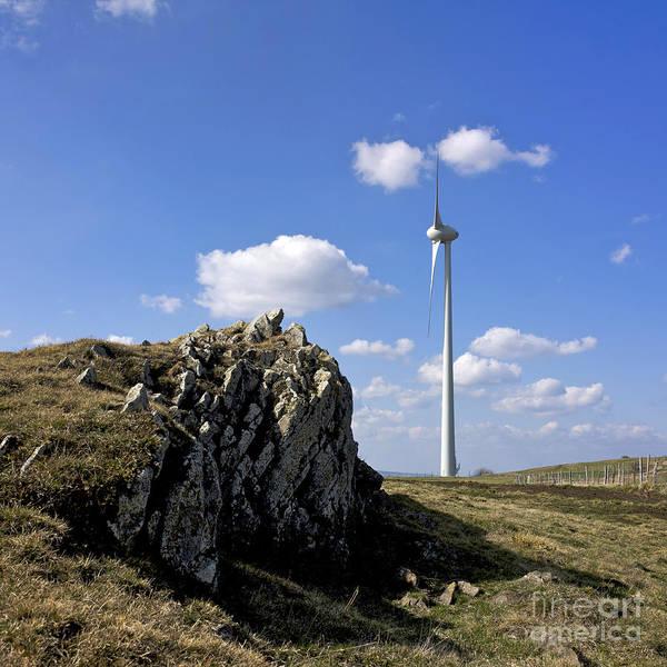 Wind Poster featuring the photograph Wind Turbine by Bernard Jaubert
