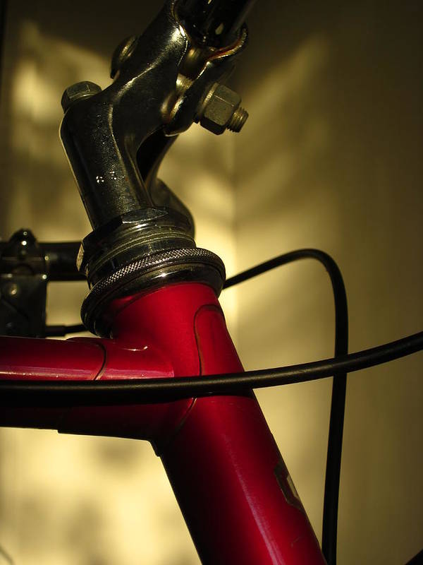 Guy Ricketts Photography Poster featuring the photograph A Study In Scarlet Bicycle by Guy Ricketts