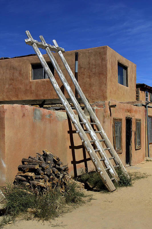 Acoma Pueblo Poster featuring the photograph Acoma Pueblo Adobe Homes 3 by Mike McGlothlen