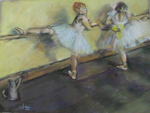 After Degas Poster featuring the painting After Degas 2 by Dorothy Siclare