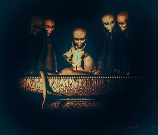 Alien Abduction Poster featuring the digital art Alien Autopsy Alien Abduction by Bob Orsillo